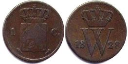 coin Netherlands 1 cent 1822