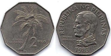 coin Philippines 2 piso 1983