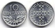coin Portugal 10 centavos 1973