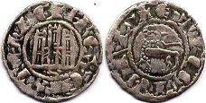 coin Castile and Leon pepion 1295-1312