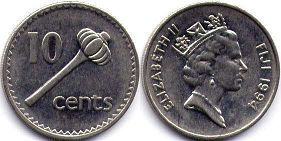 coin Fiji 10 cents 1994
