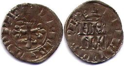 coin France double denier 1328-1350