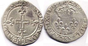 coin France double sol 1570