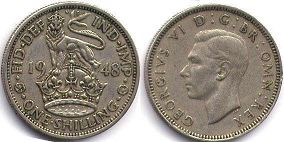 coin UK coin 1 shilling 1948