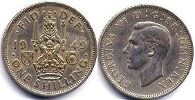 coin UK coin 1 shilling 1949
