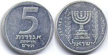 coin Israel 5 agorot 1980