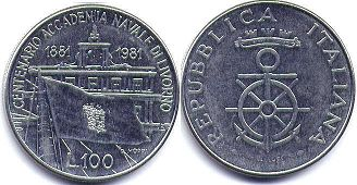 coin Italy 100 lire 1981