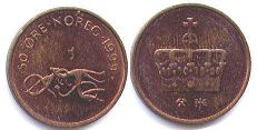 coin Norway 50 ore 1999