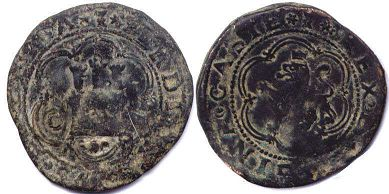 coin Castile and Leon 4 maravedil 1479-1506
