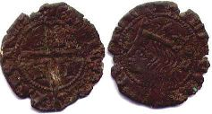 coin Castile and Leon cruzado 1369-1379