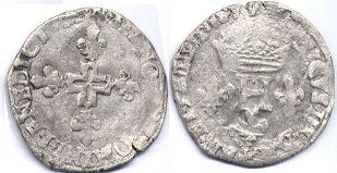 coin France double sol 1574