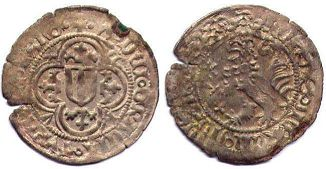 coin Thuringia 1 groschen ND (1445-1482)