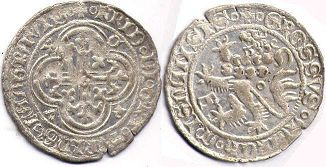 coin Thuringia 1 groschen ND (1406-1440)