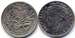 coin Italy 100 lire 1995