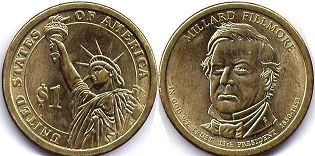 coin US commemorative coin 1 dollar 2010  President dollar Fillmore