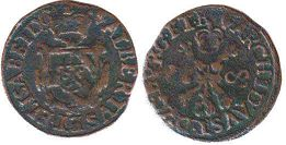 coin Spanish Netherlands duit 1608