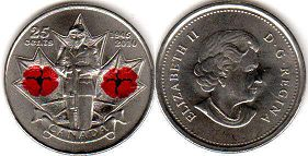 coin canadian commemorative coin 25 cents 2010