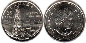 coin canadian commemorative coin 25 cents 2005