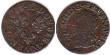 coin France double denier 1643