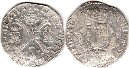 coin Spanish Netherlands patagon ND (1612-1621)
