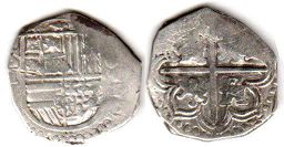 coin Spain silver 1 real ND (1588)