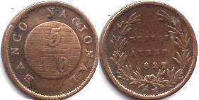 moneda Buenos-Aires 5/10 real 1827