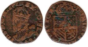 coin Spanish Netherlands oord 1589