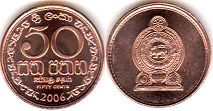 coin Sri Lanka 50 cents 2006