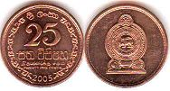 coin Sri Lanka 25 cents 2005