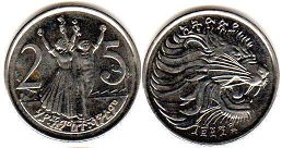 coin Ethiopia 25 cents 2004