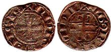 coin Burgundy denier 1305-1315