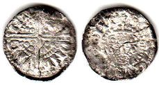 coin English old silver coin - Henry III penny