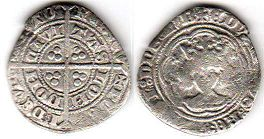 coin English old silver coin - Edward I half groat