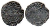 coin English old silver coin - Elizabeth I penny