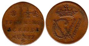 coin Brunswick-Luneburg-Celle 1,5 pfennig ND (1665-1705)