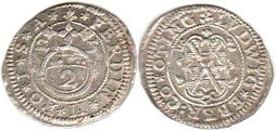 coin Oettingen 2 kreuzer 1625