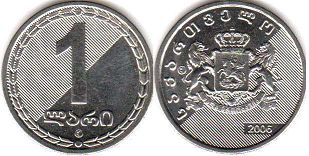 coin Georgia 1 lari 2005