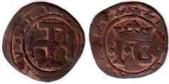 coin Naples sestino (1/6 soldo) ND (1516-1556)