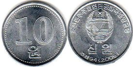 coin North Korea 10 won 2005