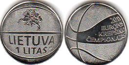 coin Lithuania 1 litas 2011