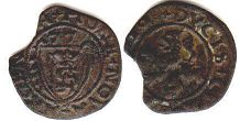 coin Courland 1 shilling 1577