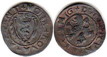 coin Courland 1 shilling 1576