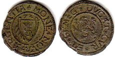 coin Courland 1 shilling 1574