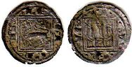 coin Castile and Leon obol 1252-1284