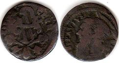 coin Papal State 1 quattrino ND (1730-1740)