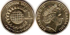 australian commemmorative coin 1 dollar 2011