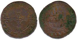 coin Cambrai 2 denier 1570-1596