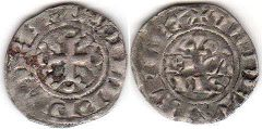 coin France double denier 1295-1303