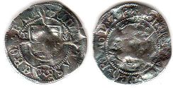 coin English old silver coin - Henry VIII half goat