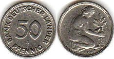 coin Germany 50 pfennig 1949